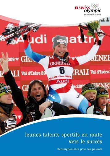 Jeunes talents sportifs en route vers le succès - Swiss Olympic