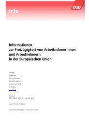 DGB -Infos zur Arbeitnehmerfreizügigkeit - Migration-online