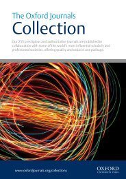 2013 Oxford Journals Collection title list