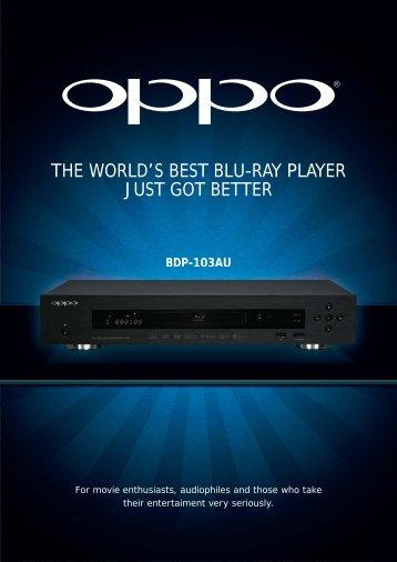 Oppo BDP103 Info Sheet - Pacific Hi Fi Liverpool