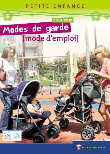 Guide de la Petite enfance 2009/2010 - Ville de Vincennes