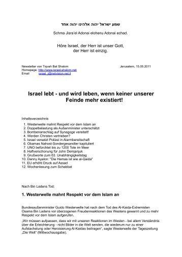 15.05.2011 Israel lebt - Israel Shalom