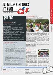 Nouvelles Régionales France - Schweizer Revue