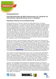 Presseinfo Juni 12: ewoca³-Auftakt in Düsseldorf - Stiftung Mercator