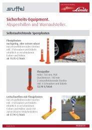 Sicherheits-Equipment. Absperrhilfen und Warnaufsteller. - suffel
