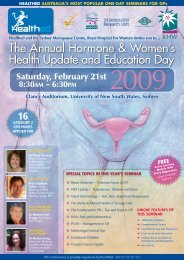 The Annual Hormone & Women's Health Update and Education Day