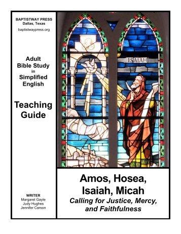 Amos, Hosea, Isaiah, Micah - BaptistWay Press
