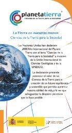Folleto temático - Año Internacional del Planeta Tierra