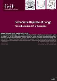 Democratic Republic of Congo - FIDH
