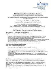 Deutsche Gesellschaft der qualifizierten ... - Quetheb