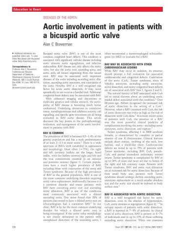 Aortic involvement in patients with a bicuspid aortic valve