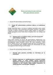 2008. gads - Gaujas nacionālais parks - Dabas aizsardzības pārvalde