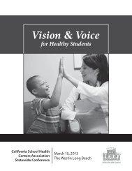 Download the program booklet - California School Health Centers ...