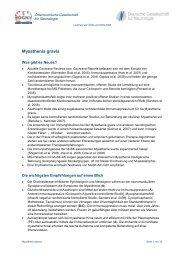 Myasthenia gravis - Österreichische Gesellschaft für Neurologie