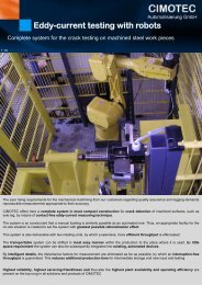 Eddy-current testing with robots - CIMOTEC Automatisierung Gmbh