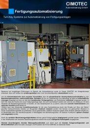 Fertigungsautomatisierung - CIMOTEC Automatisierung Gmbh