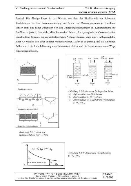 Kapitel B05.2 / BIOFILMVERFAHREN / 07.11.2012 - Department ...