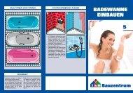 5. Badewanne einbauen - Mehring