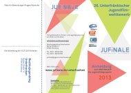 Ausschreibung mit der Anmeldung findet ihr hier - JuFinale