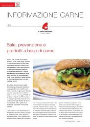 Sale, prevenzione e prodotti a base di carne - Schweizer Fleisch