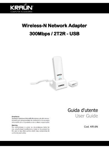 Wireless Network Card 54Mbps – PCI Guida d'utente