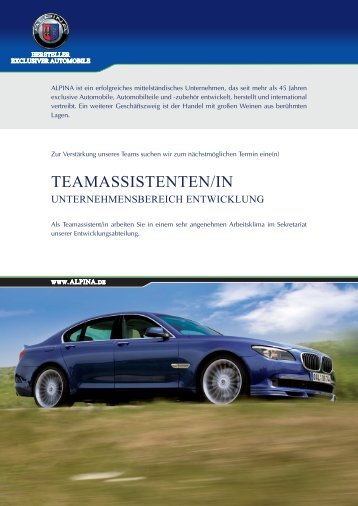 TEAMASSISTENTEN/IN - Alpina