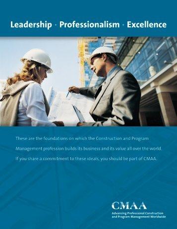 Membership Brochure - CMAA