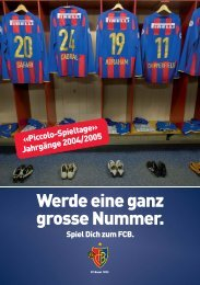 Werde eine ganz grosse Nummer. - FC Basel