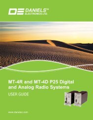 MT-4R and MT-4D P25 Digital and Analog Radio Systems - Daniels ...