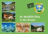 Prospekt Camping Sonnenberg - Urlauber-Tipp.de