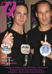 Q Magazine salutes our Bar staff. Inside - find out what Melbourne ...