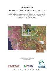 PROYECTO: GESTIÓN MUNICIPAL DEL AGUA - Portal Cuencas