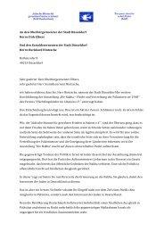 An den Oberbürgermeister der Stadt Düsseldorf Herrn Dirk Elbers ...