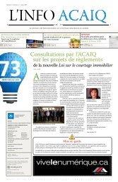 Journal L'Info ACAIQ 03-2009 - oaciq