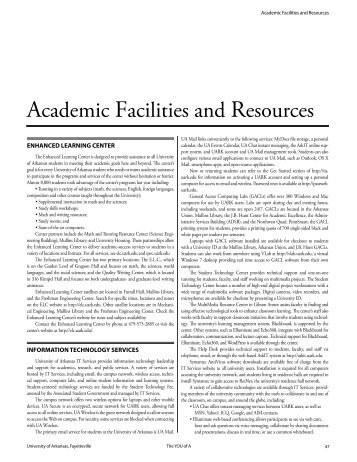 Academic Facilities and Resources - Catalog of Studies - University ...