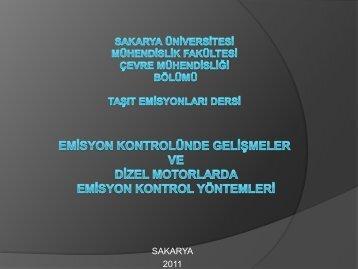 Dizel motorlarda emisyon kontrol yöntemleri 2011-yeni - Sakarya ...