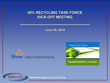 Kick-off Meeting Presentation, June 24, 2010 - SWALCO