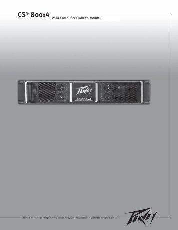Power Amplifier Owner's Manual CS® 800x4 - Peavey