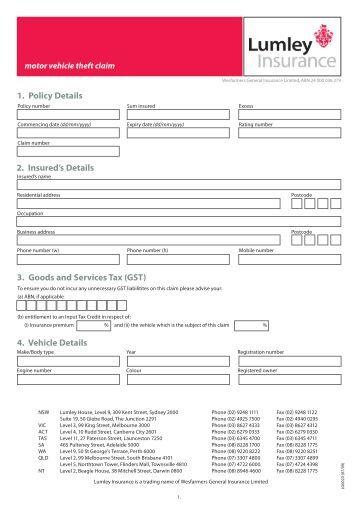 Customer Care Plan Lumley Insurance