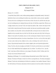 47 WHEN CHRISTIANS DISAGREE, PART 1.pdf - Dr. George O. Wood