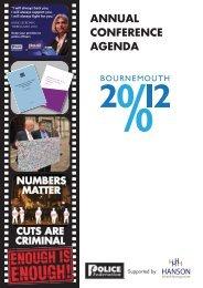 Conference 2012 Agenda - Police Federation