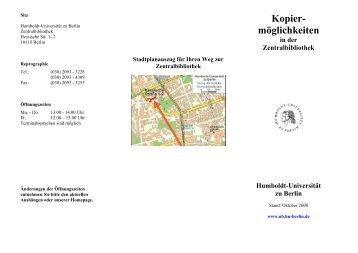 Kopier - Universitätsbibliothek der HU Berlin - Humboldt-Universität ...