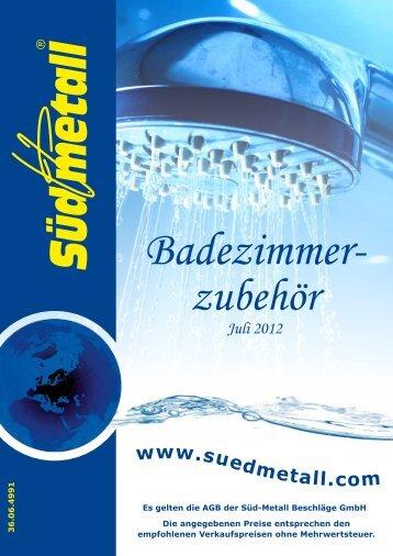Badezimmer - Süd-Metall Beschläge GmbH