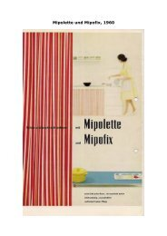 Mipolette und Mipofix, 1960 - Kunststoff Museum Troisdorf