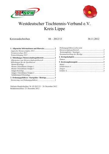 Kreisrundschreiben 4 - WTTV eV Kreis Lippe