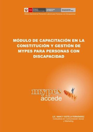 MODULO DE CAPACITACIÓN - Ministerio del Trabajo y Promoción ...