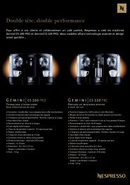 Download the GEMINI RANGE PDF - Nespresso
