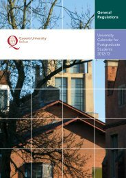 University Calendar for Postgraduate Students 2012/13 - Queen's ...