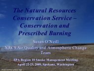 Conservation and Prescribed Burning - Environmental Protection ...