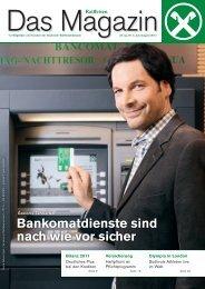Bankomatdienste sind nach wie vor sicher - Raiffeisen